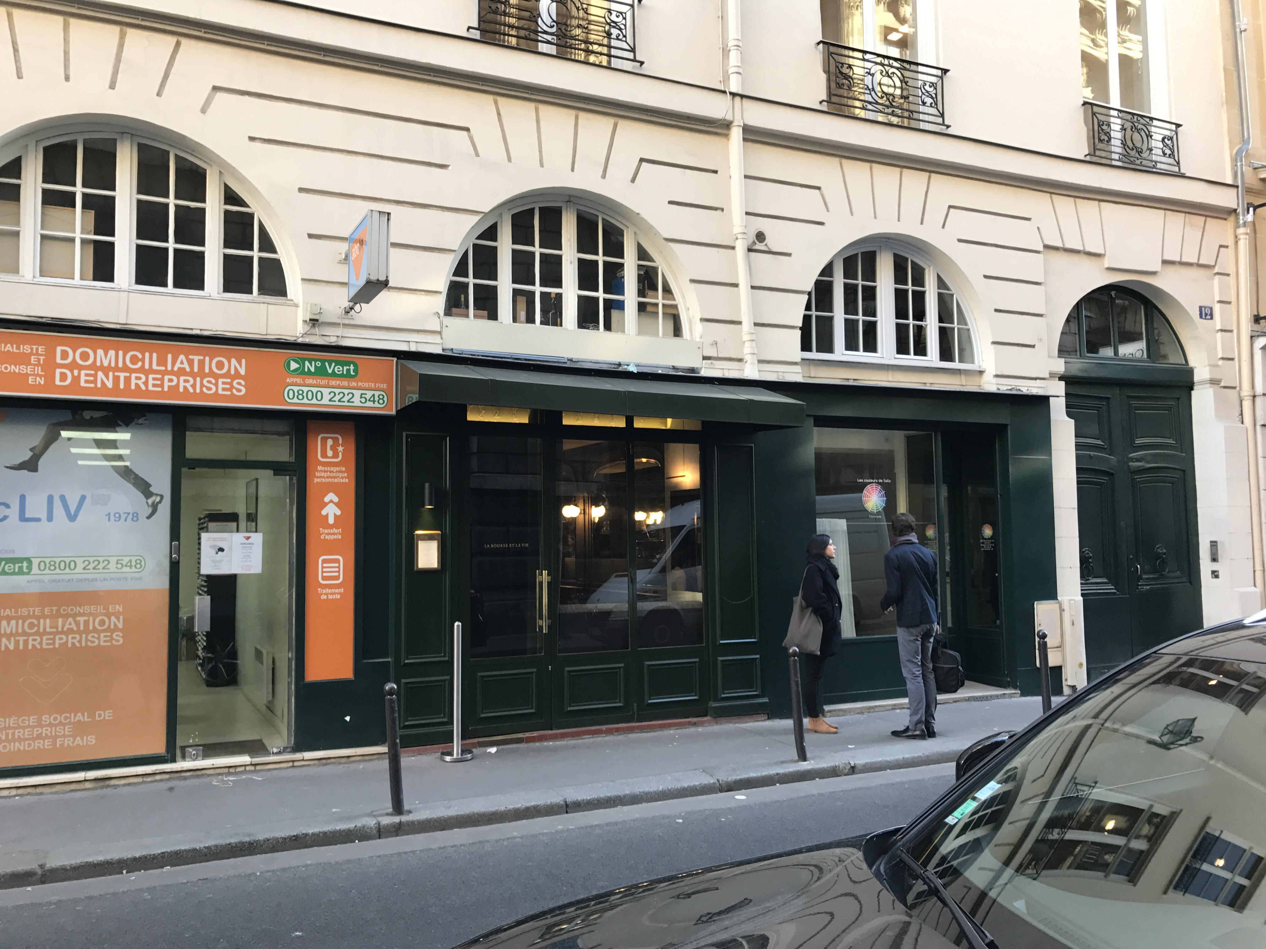 La Poste Le Poiré Sur Vie la bourse et la vie, paris, 11/30/16 - dining with frankie
